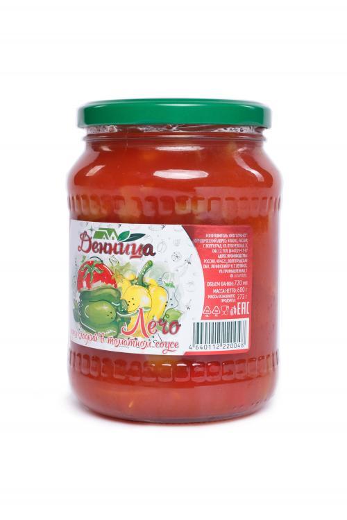 """Лечо (перец сладкий в томатном соусе) """"Денница"""" 0,72"""